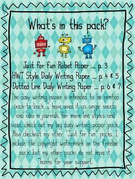 FREEBIE Writing Paper Pack