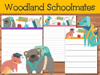 FREEBIE :  Writing Papers : Woodland Schoolmates
