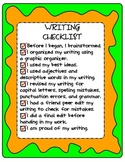 FREEBIE Writing Poster and Student Checklist Printable