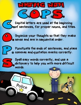 FREEBIE Writing Posters Using COPS Acronym