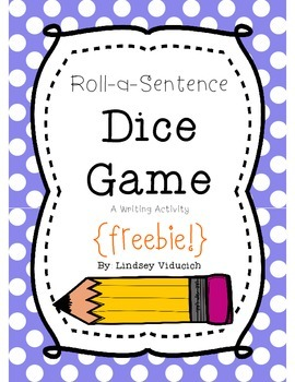 Writing Practice Roll-a-Sentence Literacy Game