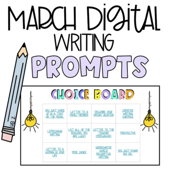 FREEBIE Writing Prompts - March - Editable Google Slides for High Engagement!