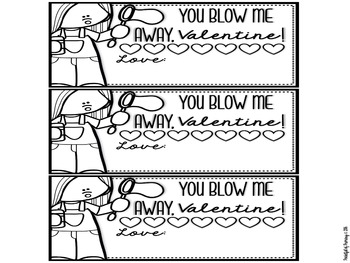 "FREEBIE - ""You Blow Me Away"" Valentine's Day Tag"