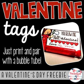 """FREEBIE - """"You Blow Me Away"""" Valentine's Day Tag"""
