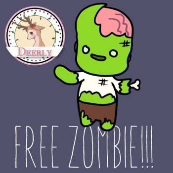 FREEBIE ZOMBIE! (Deerly Clipart)