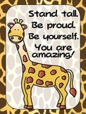FREEBIE - Zoo Animals Positive Quote Posters {Jungle Safari Theme}