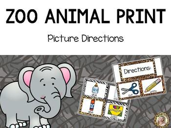 FREEBIE - Zoo Animals Picture Directions {Jungle Safari Theme}