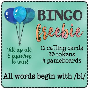 FREEBIE /bl/ Bingo (/l/ blend)
