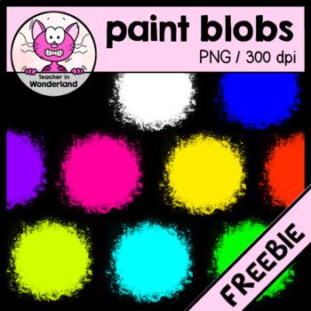 FREEBIE bright spray paint blobs