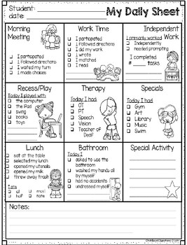 FREEBIE daily communication for parents