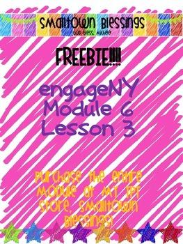 FREEBIE! engageNY Module 6 Lesson 3 {grade 3}