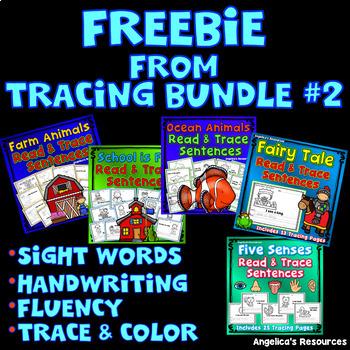FREEBIE from BUNDLE #2 : Five Senses, Fairy Tale, Ocean Animals, Farm, School