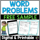 FREEBIE from Word Problems Set A