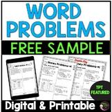 Word Problems- Set A FREEBIE