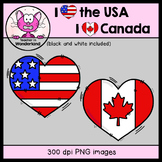 FREEBIE: heart flag (USA and Canada) clipart