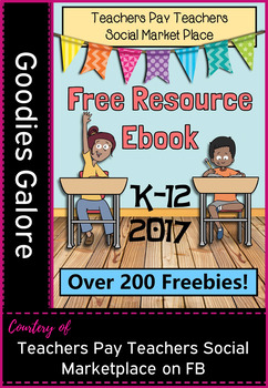FREEBIE page in FREE Resource eBook from the TPT Social Marketplace on FB