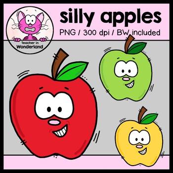 FREEBIE silly apples clipart [teacherinwonderland]