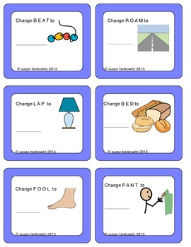 FREEBIE trial of Swapping Sounds Task Cards for Struggling Spellers
