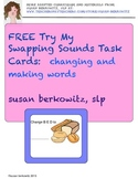 FREEBIE trial of Swapping Sounds Task Cards for Struggling