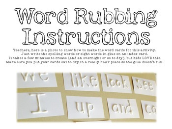 FREEBIE word work pages!