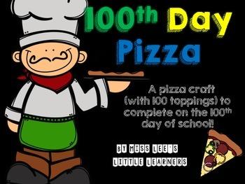 ***FREEBIE***100th day of school pizza craft!