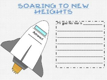 FREEBIE Back to School Space Superhero theme goal setting