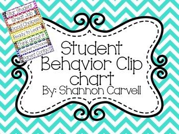 FREEBIEChevron Behavior Clip Chart