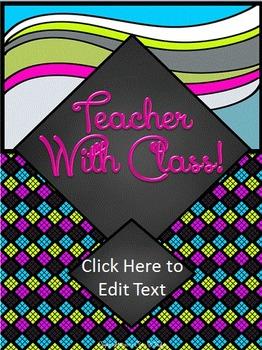 FREEBIE~Editable Classy Teacher Binder