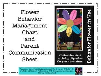 Flower Behavior Management Chart, Parent Communication Sheet: FREEBIE!