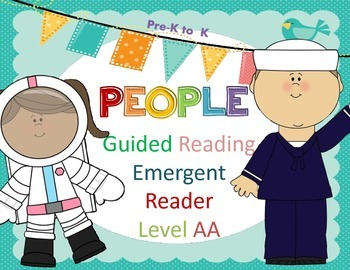 FREEBIE!!! Guided Reading PEOPLE
