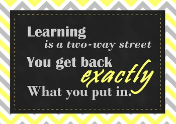 """FREEBIE!""""Hard Work is a two-way street..."""" posters in 8 different designs!"""