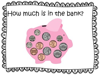 Counting coins and money FREEBIE How Much Money Is In The Piggy Bank?