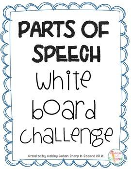 FREEBIE Parts of Speech White Board Challenge