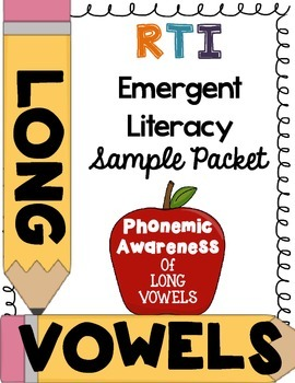 ***FREEBIE*** First Grade RTI - Phonemic awareness of long vowels