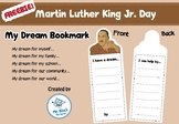 FREEBIE! Martin Luther King Activities (My Dream bookmark)