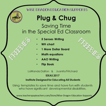 FREEBIES:  Plug and Chug templates from 2017 IDEAS Conference