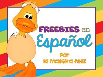 FREEBIES en Español/ lenguaje, mate,  juegos y más!