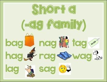 Short Vowel CVC Mats