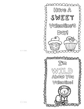 Valentine's Day Color Your Own Cards {14 Cards} FREEBIE!