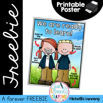 Forever FREEBIE*Ready to learn Poster