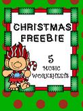 FREEBIE_5 Christmas Music Worksheets