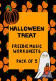 FREEBIE_5 Halloween Music Worksheets