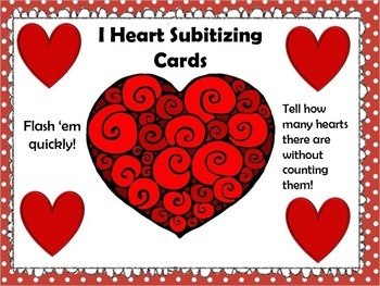 Subitizing Cards - Valentine's Day IHeart!