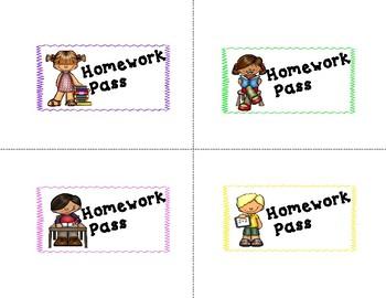 FREEBIE Homework Passes