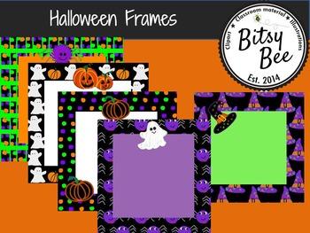 "FREEBIE  Halloween 12"" x 12"" frames (Bitsy Bee Clip Art)"