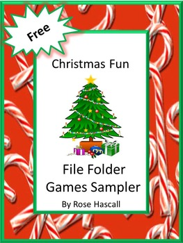 FREE:Christmas Fun File Folder Games Sampler For Centers o