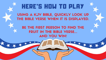 FREEDOM IN THE BIBLE: Bible Scavenger Hunt (4th of July)