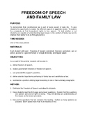 FREEDOM OF SPEECH AND FAMILY LAW