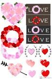 Valentine's Day Clipart-14 Piece Set