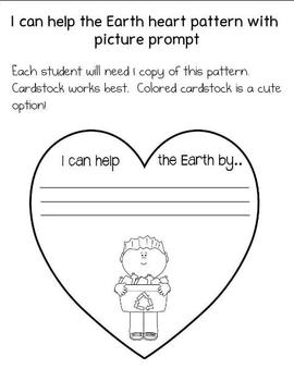 I can help the Earth by... Mobile Writing Craftivity